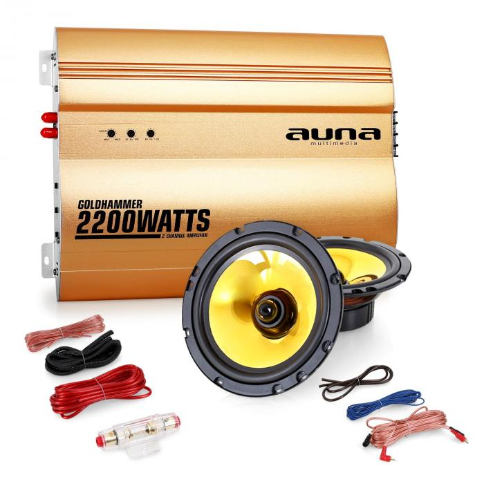 "Auna 2.0 auto hifi set ""Golden Race V2"" – 6,5"