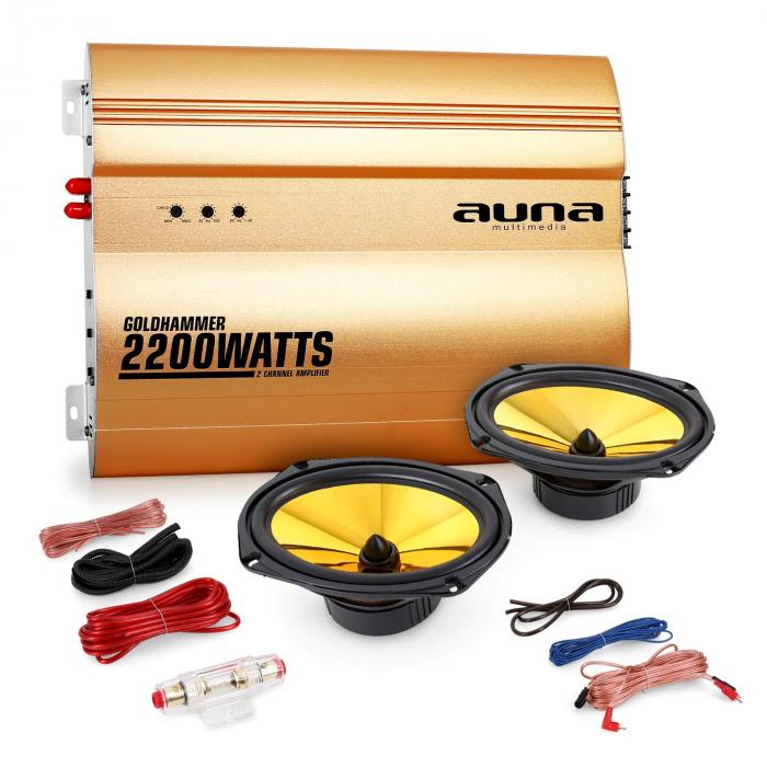 "Auna 2.0 auto hifi set ""Golden Race V3"" – 6 x 9"
