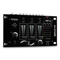DJ-21, mixer 3/2 canale, USB, talkover, party