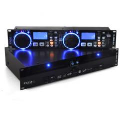 Global DJ Dual CD MP3 Player Scratch SD USB