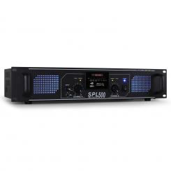 SPL-500 amplificator HiFi 1600W USB-SD-MP3 Negru | MP3-Player | 2x 250 W (4 Ohm)