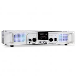 SPL-1000-MP3 DJ PA HiFi pojačalo USB SD Radio 1000 W Bijela | MP3-Player | 2x 500 W (4 Ohm)