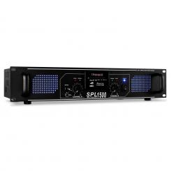 SPL-1500 вата DJ PA HIFI усилвател SD USB MP3 Черно | MP3-Player | 2x 750 W (4 Ohm) / 2x 500 W (8 Ohm)