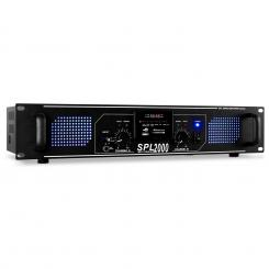 SPL-2000 amplificator HiFi PA USB SD MP3 Negru | MP3-Player | 2x 1000 W (4 Ohm) / 2x 750 W (8 Ohm)