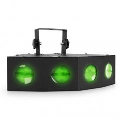 Efect de lumină Beamz Mini LED 4 Way Moonflower Disco