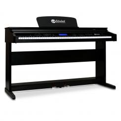 88 tipki electric midi klavijature piano sa 2 pedal Crna