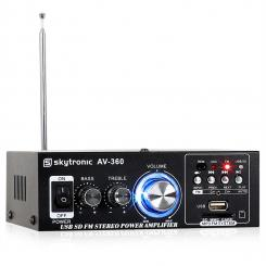 Amplificator stereo Hi-Fi SKYTRONIC AV-360, USB, SD, MP3, AUX