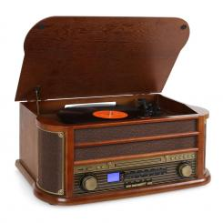 Belle Epoque 1908 Retro Vintage Stereo Gramofon Vinil F Rjava | CD-Player