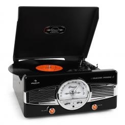 MG-TT-82C, retro gramofon 50-ih, AM FM RADIO Črna