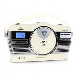 RCD-70 Retro Vintage Prenosni Radio FM CD/MP3 USB Krem