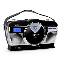 RCD-70 Retro Vintage Prijenosni Radio FM CD/MP3 USB Crna