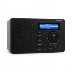 IR-130, internet radio, W-LAN, streaming, črn Črna