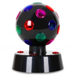 Disco Ball 4-B, LED svetlobni efekt, 13.5 cm, črna