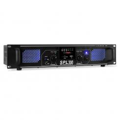 SPL 300MP3, 300 W, erősítő, MP3, USB, SD Fekete | MP3-Player | 2x 150 W (4 Ohm)