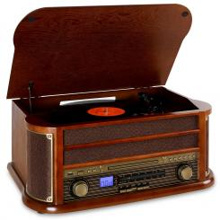 Belle Epoque 1908, retro stereo, bluetooth, USB, CD,MP3 Hnědá | CD-Player / Bluetooth