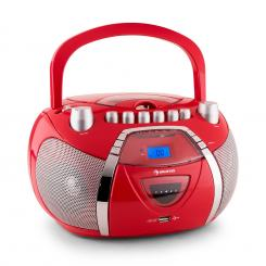 Beegirl recorder Radio CD MP3 USB roșu