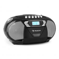 KrissKross recorder de radio portabil CD MP3 USB negru Negru