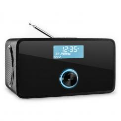 DABstep DAB/DAB + Digitalni radio, Bluetooth, FM, RDS, budilica Crna