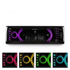 MD-130, auto radio, Bluetooth, SD, USB, AUX, RDS, 7 bojni mod Crna
