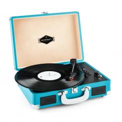 Peggy Sue, retro gramofon, LP, USB, plavi Plava