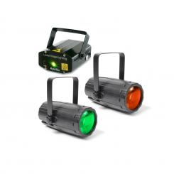 Pachetul Light 2 Disco efect luminos Set 2x 1x Efecte de lumină laser
