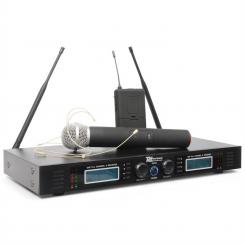 Putere Dynamics PD732H 2 canale UHF Wireless Sistem microfon 2x 16 Wireless Hand