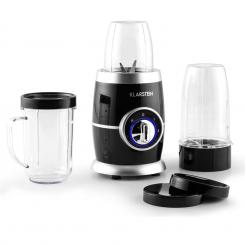 Klarstein Juicinho Nero, 220 W, Blender, priprema smoothie, 8 komada set Crna