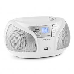 GROOVIE WH бумбокс CD стерео BLUETOOTH FM AUX MP3 бял Бял
