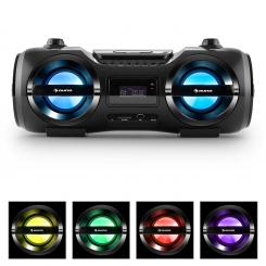 Soundblaster M, max. 50W, boombox s bluetooth 3.0, CD/MP3/USB, FM, LED