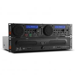 Power Dynamic PDX115, dual DJ CD player controler cu SD, USB, CD, MP3, suport