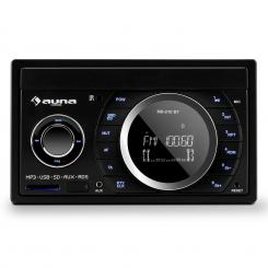 MD-210 BT RDS, 4 x 75 W, autórádió, bluetooth, USB, SD, MP3, mikrofon, 2-DIN