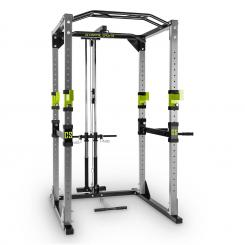 Tremendour Power Rack, verde, sală de fitness la domiciliu, oțel Gri | WITH_LAT_PULL