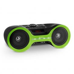 Boombastic Bluetooth Boombox USB SD MP3 AUX FM LED baterie