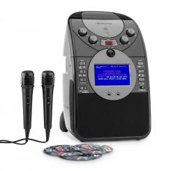 Ecrankaraoke Camera CD USB SD MP3 inclusiv. 2 x Microfon 3 x CD + G Negru | cu un set de CD-uri