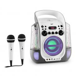 Kara design CD sistem karaoke USB MP3LED 2 x micro baterie Gri