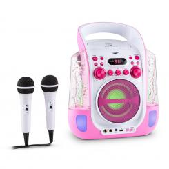 Kara design CD sistem karaoke USB MP3LED 2 x micro baterie Roz