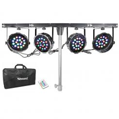 Mahala 4-way kit 18 x 1W LED-uri RGB DMX T-bar Toc