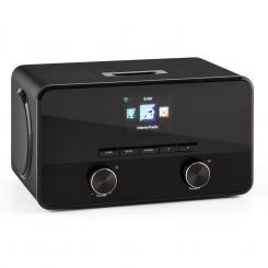 CONNECT 100, INTERNETSKI RADIO, MEDIA PLAYER, BLUETOOTH, WLAN, USB, AUX, LINIJSKI IZLAZ Crna