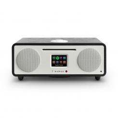 Two – 2.1 Internetni -Radio CD 30W USB Bluetooth, spotify priključek, DAB+, temne barve- črni hrast Črna