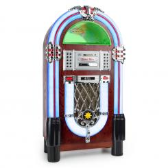Graceland TT, jukebox, bluetooth, phono, CD, USB, SD, MP3, AUX, FM CD-Player / Bluetooth / Turntable