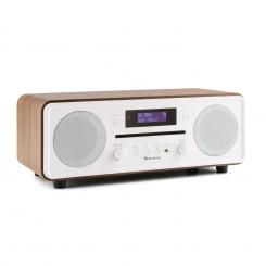 CD CD DAB Melodia + / FM Desktop Radio CD Player Bluetooth Alarmă nuc Nuc
