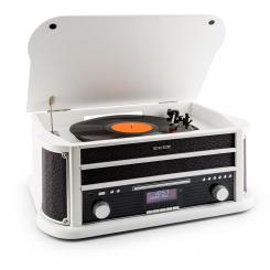 BELLE EPOQUE 1908 DAB, retro stereo sustav, gramofon, DAB +, Bluetooth, bijeli Bijela | CD-Player / Bluetooth / DAB Radio