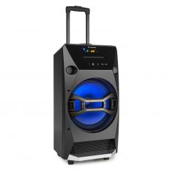 BROOKLYM BEAT, 100 W RMS, PRENOSNI ZVOČNIK, BLUETOOTH, USB, SD, CD PREDVAJALNIK, FM, LED