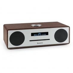 Standford DAB-CD-rádio DAB+ bluetooth USB MP3 AUX FM, цвят орех Орех