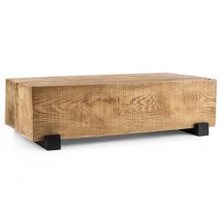 Blockhouse Lounge, stol u obliku kvadra, vrtni stol, Timber-Table 120x30x60 cm