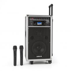 ST-100 MK2, sistem audio portabil PA, Bluetooth, CD, USB, SD, MP3, acumulator, UHF
