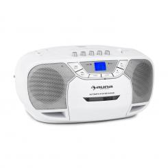 BEEBERRY BOOM BOX, BIJELI, BOOMBOX, PRIJENOSNI RADIO, CD/MP3 PLAYER, KAZETOFON Bijela