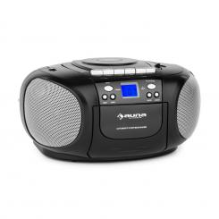 BOOMBOY BOOM BOX, CRNI, BOOMBOX, PRIJENOSNI RADIO, CD/MP3 PLAYER, KAZETOFON Crna