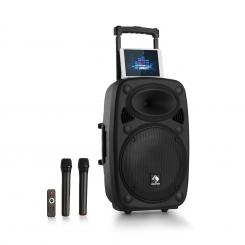 "Streetstar 12 mobil PA berendezés, 12"", subwoofer, trolley BT USB/SD/MP3, AUX Fekete 