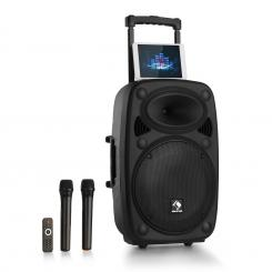 "Streetstar 15 Mobile PA sistem 15 ""/ SD / MP3 USB control, subwoofer, display BT FM AUX 2xUHF micro, telecomanda"
